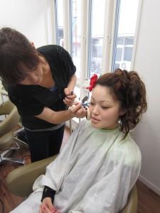 懐かしの松山祭り アップ&メイク