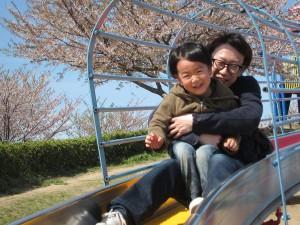 松前公園 すべり台