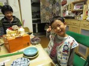 しおん5歳 誕生ウ日3