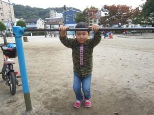 公園 鉄棒練習