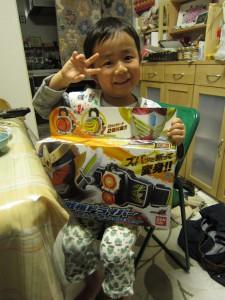 心温 5歳誕生日 仮面ライダーガイム