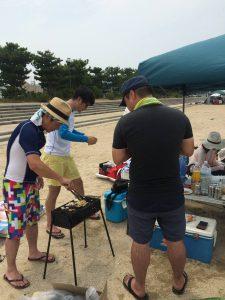 BBQ in和気浜